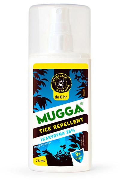 Środek MUGGA Spray 25% IKARYDYNA na kleszcze komary